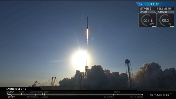 SpaceX Falcon 9 lansare satelit SES-10